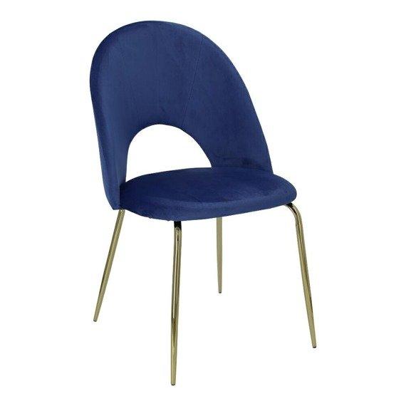 Stylowe krzesło Kotte Velvet w kolorze niebieskim
