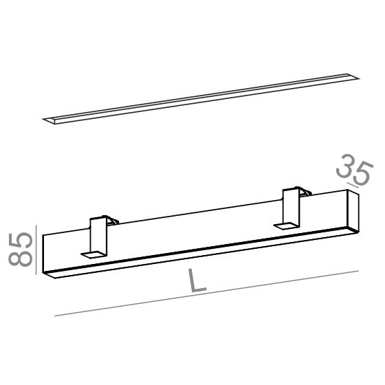 Wpust AQForm Rafter 57 cm