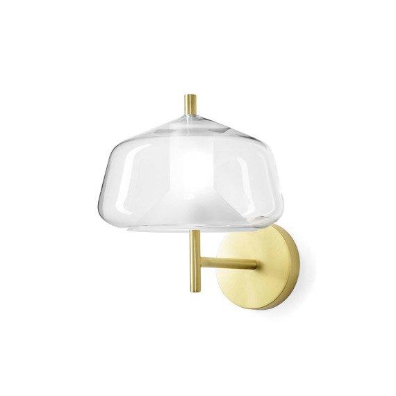 Złoto - transparentna Lampa ścienna Miloox X-Ray