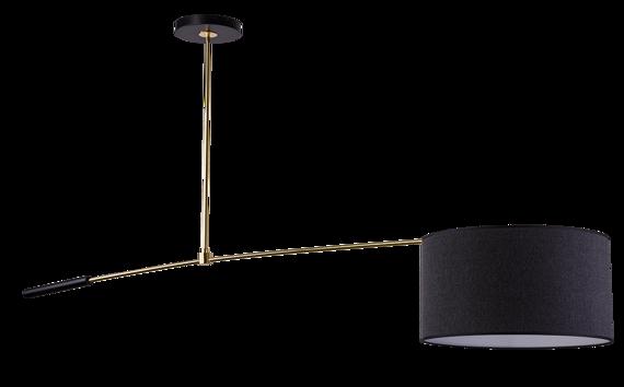 Żyrandol Amplex Dafo 0418 czarno-złoty