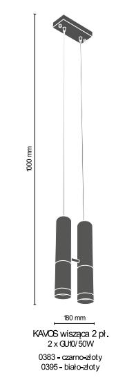 Żyrandol Amplex Kavos 0383