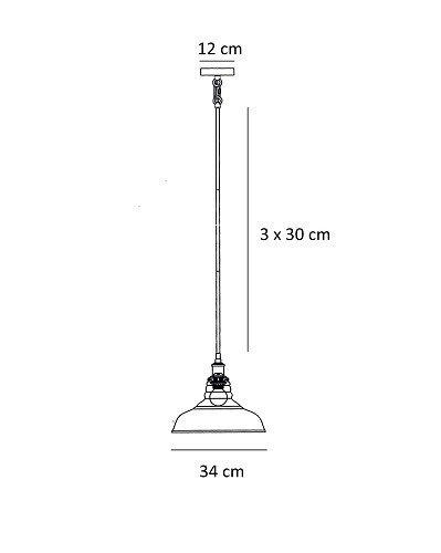 Żyrandol Berella Light Nordeno M BL0222
