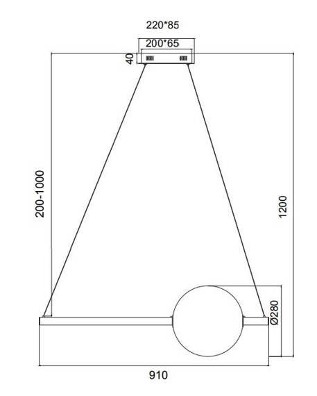 Żyrandol Maytoni Freccia MOD063PL-L30G3K